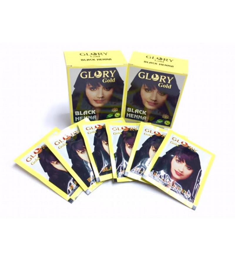 Glory Gold Black Henna 6 Pkt Of 10gms Each